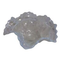 Fenton Opalescent Basket Weave Bowl White with Blue