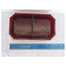 Avon Cape Cod Collection Relish Condiment dish Mint in Box