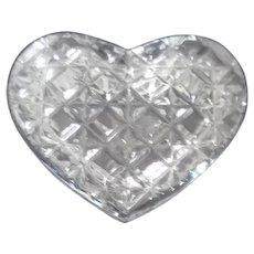 Heart Shaped Crystal Clear Cut Trinket Box