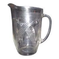 Sturdy Anchor Hocking Clear Glass Pitcher