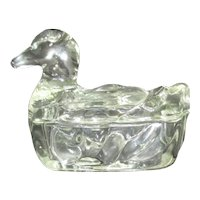 Clear Glass Duck Container Box