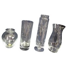 Princess House Crystal 4 Vases
