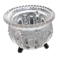 Pressed Glass Footed Toothpick Holder