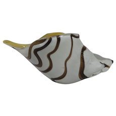 Cased Glass Art Glass Seashell