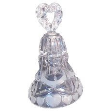 Price Clear Crystal Bell with Satin Glass Hearts