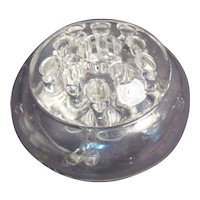 Clear Glass Footed Floral Bowl and flower Frog 2-part