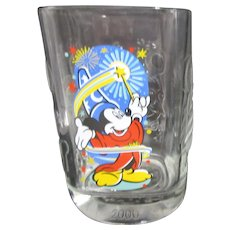 Mickey Mouse Millennium Disney World Glass