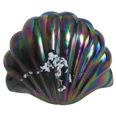 Iridescent Art Glass Shell from Pele's Glass Hawaii