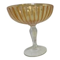 Carnival Glass Marigold Footed Display Goblet/Candy Dish