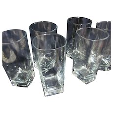 "Cristal D'Arques Durand Set of 7 Glasses ""Sterling"" Pattern"