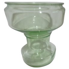 Uranium Florescent Green Glass Vase or Fish Bowl