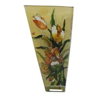 AMIA  Studio Hand Painted Glass Vase