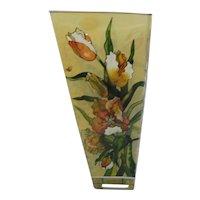 AMIA  Studio Hand Painted Glass Vase
