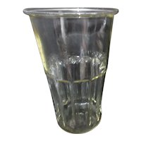 1' High Clear Glass Ice Container from Soda Shoppe