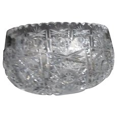 Brilliant Cut Lead Crystal Bowl with Starburst Pattern