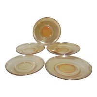 Set of 5 Marigold Saucers