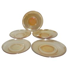 Set of 5 Marigold Saucers