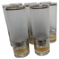 Culver Glass Co Set of 8 Regency Iced Tea/Highball Glasses