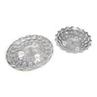 Fostoria Americana Set of 2 Footed Serving Bowls