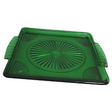 Avon Emerald Accent Serving Tray 1980's