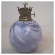 Vintage Hand Blown Hand Painted Lamp Base