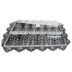 Fifth Avenue Crystal Relish Tray from Poland