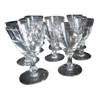 Fostoria Nosegay Claret Wine Goblets Set of 11