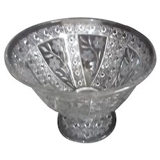 Heavy Glass Footed Bowl