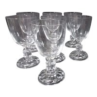 Fostoria American Lady Clear Set of 7 Water Goblets