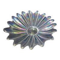 Federal Glass Co Iridescent Shallow Bowl with Celestial Pattern