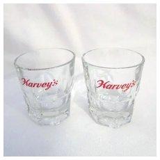 "Pair of Harvey's 3"" Drinking Glasses"
