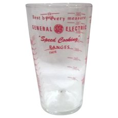 "General Electric ""Speed Cooking"" Measuring Glass"
