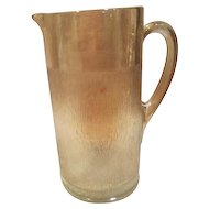 Carnival Glass Tree Bark Pattern Iridescent Water Pitcher