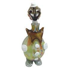 """Art Glass Clown Decanter 12"""" Tall"""