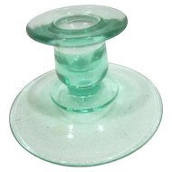 Green Depression Era Candle Holder