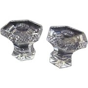 Crystal Candleholders with Diamond Quilted Edge
