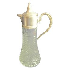 Diamond Cut Lead Crystal Water Carafe