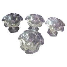 Set of 4 Heisey Ruffled Edged Sundae/Sherbet/Sorbet Glass Dishes