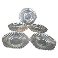 Five Heisey Clear Glass Dessert Plates