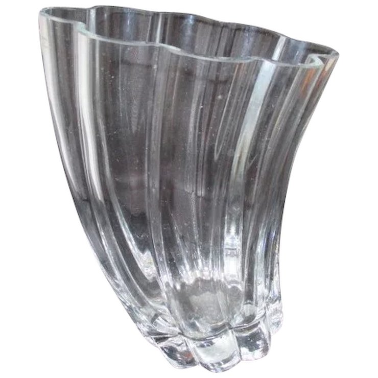 Polish Crystal Vase Something Wonderful Ruby Lane