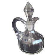 Hand Blown Clear Glass Oil Cruet