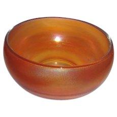 Marigold Carnival Glass Bowl