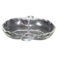 Fostoria Century Pattern Divided Relish Tray with Handles