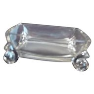 Clear Elegant Glass Footed Box