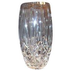 Polish Large Hand Cut Crystal Vase