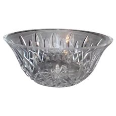 "Waterford Crystal 9"" Round Bowl Lismore Pattern"
