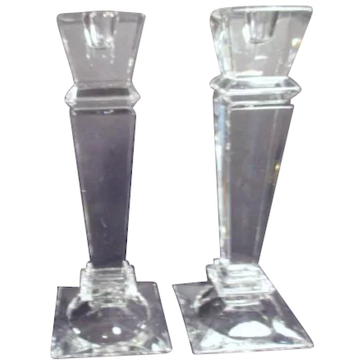 Pair of Shannon Crystal Designs of Ireland Candlesticks