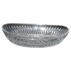 Princess House Crystal Double Highlights Pattern Oval Serving Bowl