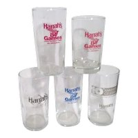 5 Harrah's Drinking Glasses