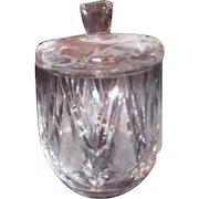 Crystal Lidded Jam or Jelly Jar